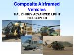 composite airframed vehicles16