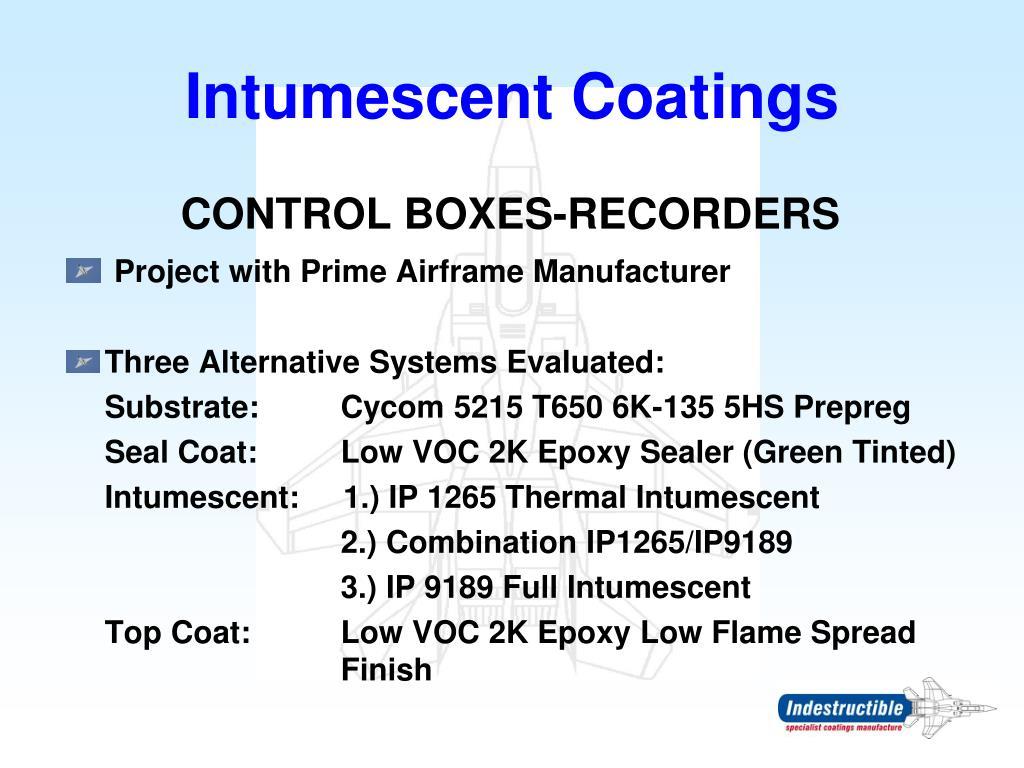 Intumescent Coatings