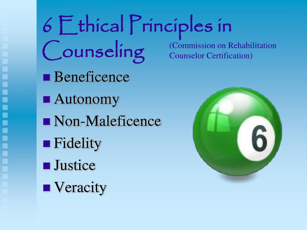 Ppt 6 Ethical Principles In Counseling Powerpoint Presentation