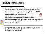 precautions air