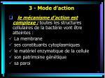 3 mode d action