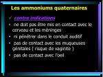 les ammoniums quaternaires54