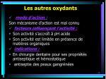 les autres oxydants39