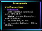 les oxydants