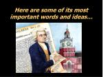here are some of its most important words and ideas