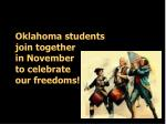 oklahoma students join together in november to celebrate our freedoms