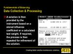 fundamentals of balancing data collection processing42