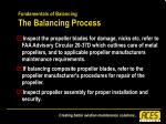 fundamentals of balancing the balancing process44