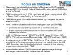 focus on children
