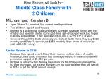 how reform will look for middle class family with 2 children