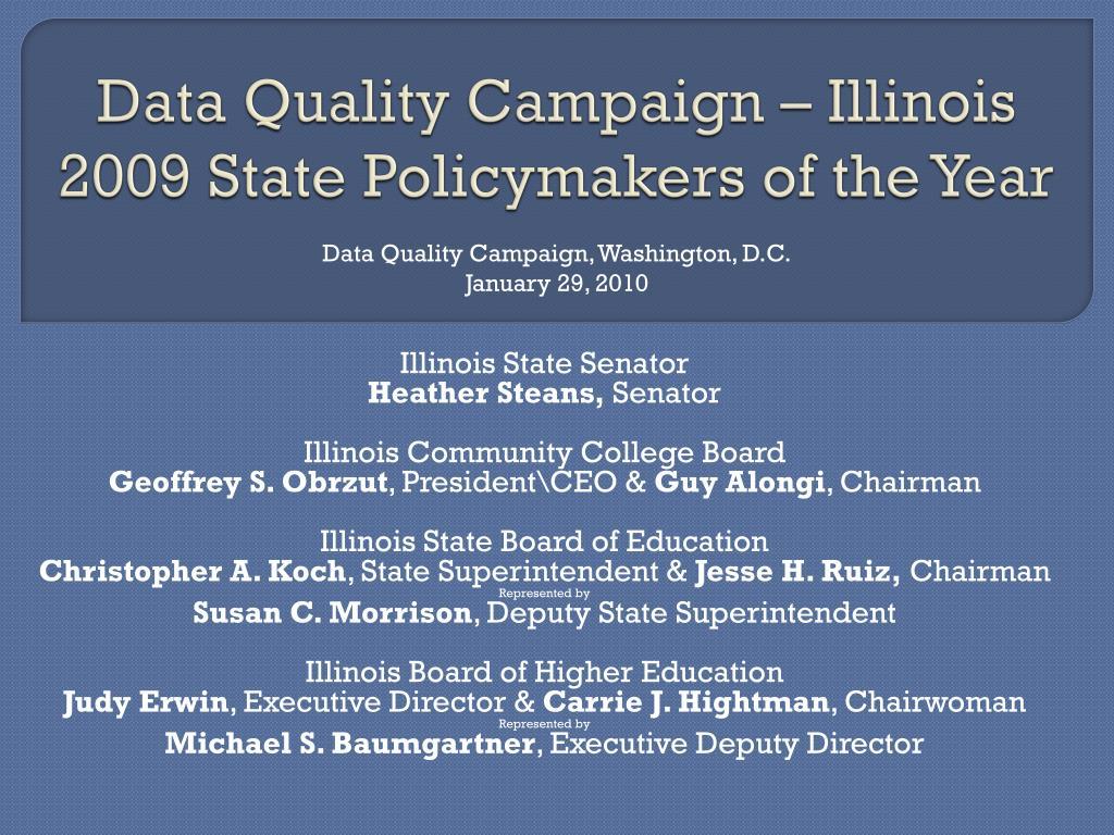 Data Quality Campaign – Illinois