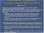employment community colleges educate train skilled workers
