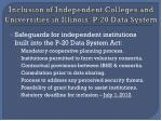 inclusion of independent colleges and universities in illinois p 20 data system12