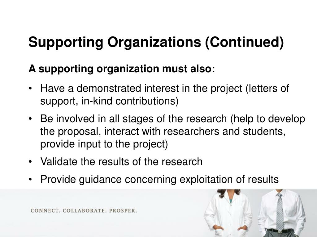 A supporting organization must also: