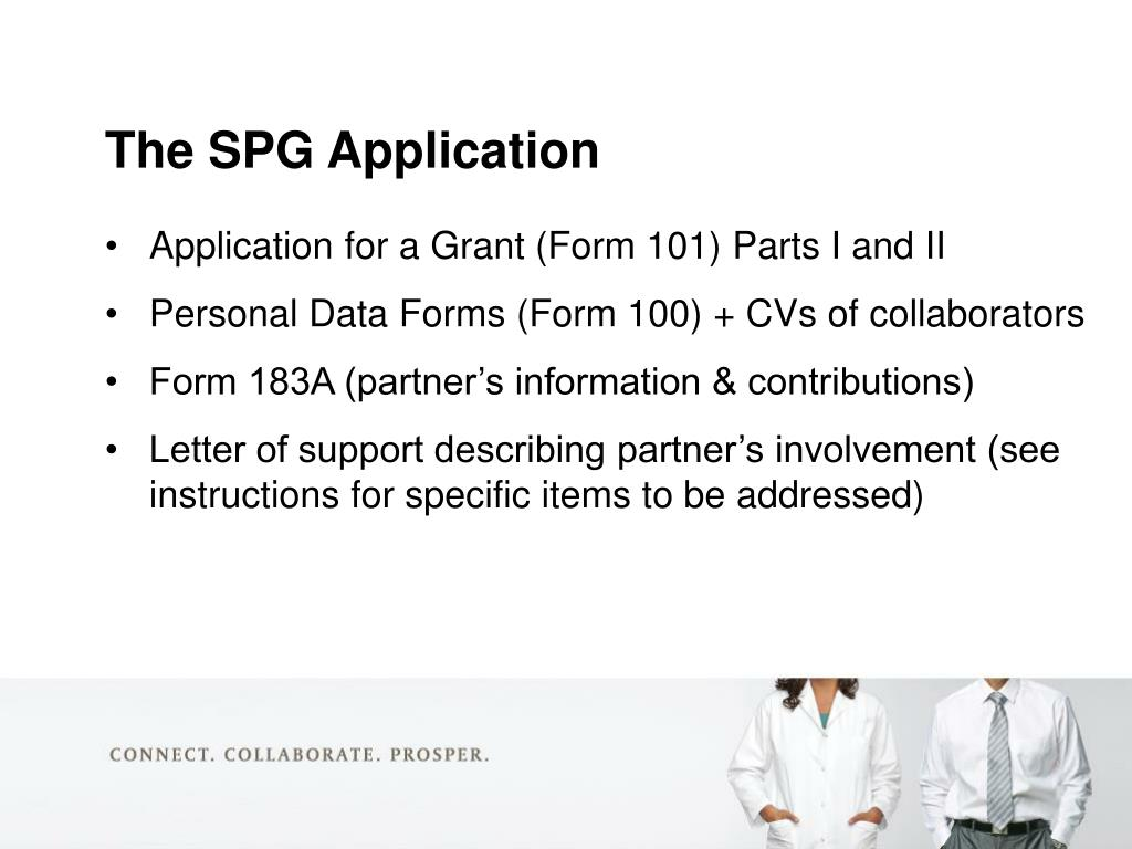 Application for a Grant (Form 101) Parts I and II