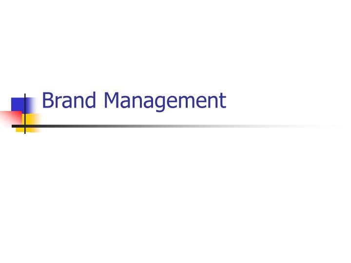 brand management n.