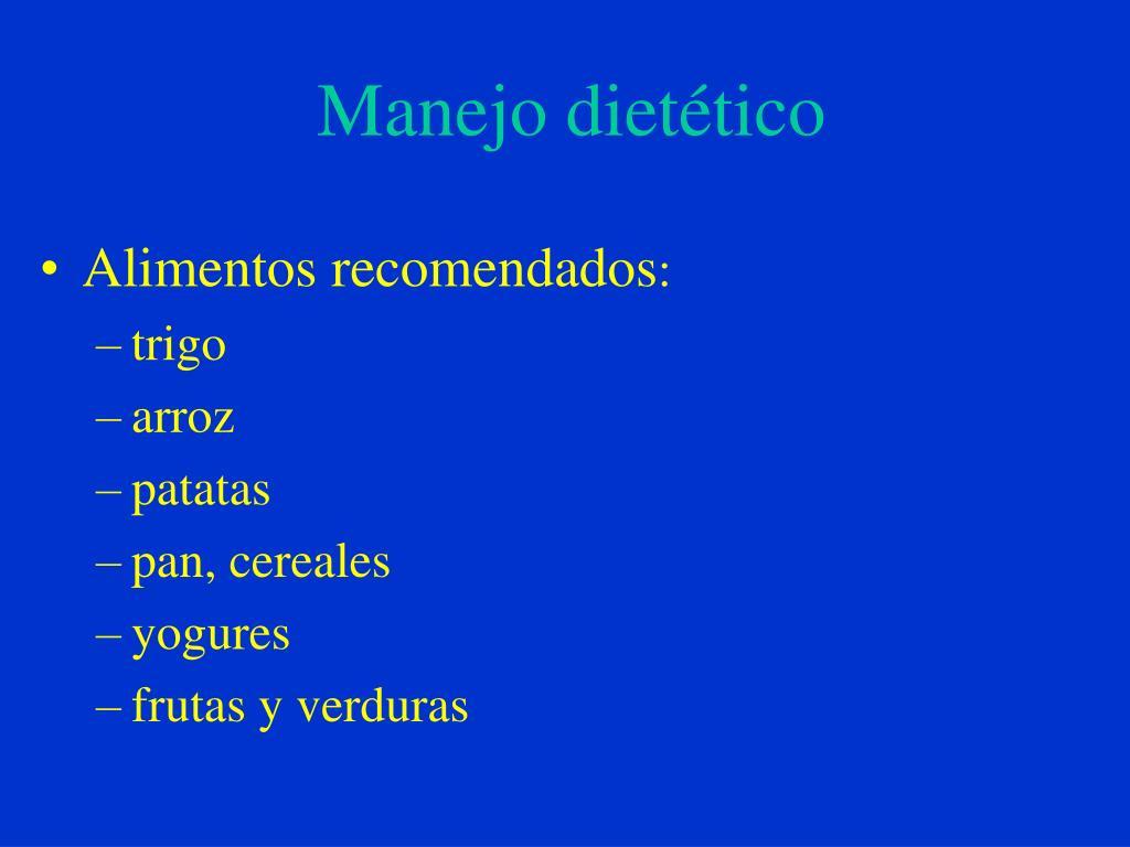 Manejo dietético