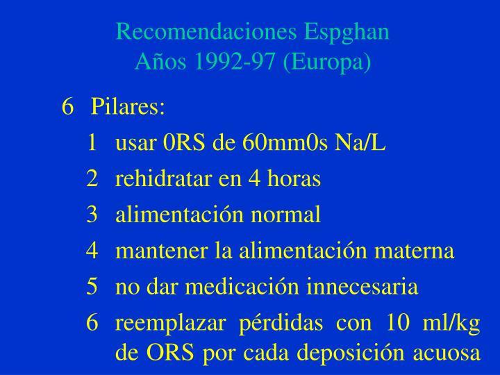 Recomendaciones espghan a os 1992 97 europa