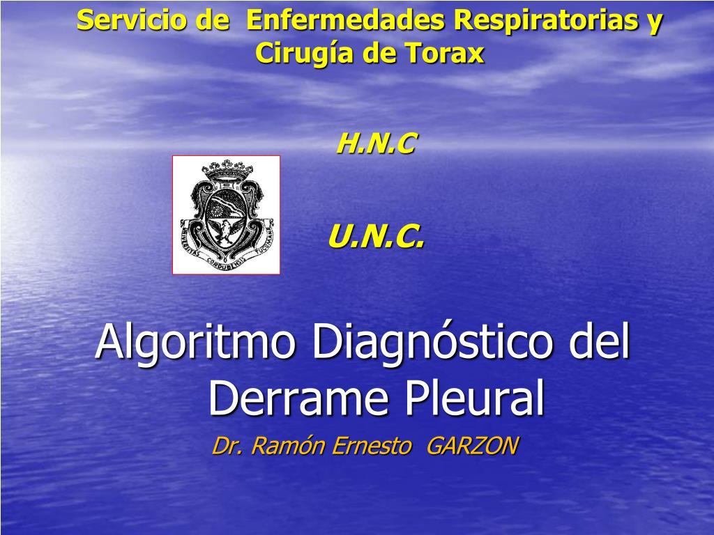 servicio de enfermedades respiratorias y cirug a de torax h n c u n c l.