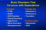 brain disorders that co occur with dependence