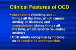 clinical features of ocd