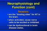 neurophysiology and function cont