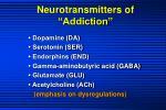 neurotransmitters of addiction