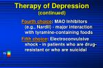 therapy of depression continued