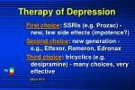 therapy of depression
