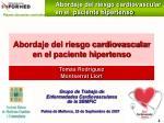 abordaje del riesgo cardiovascular en el paciente hipertenso