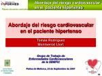 abordaje del riesgo cardiovascular en el paciente hipertenso108