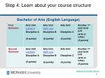 step 4 learn about your course structure10