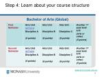 step 4 learn about your course structure9