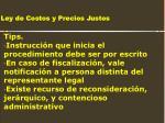 ley de costos y precios justos195