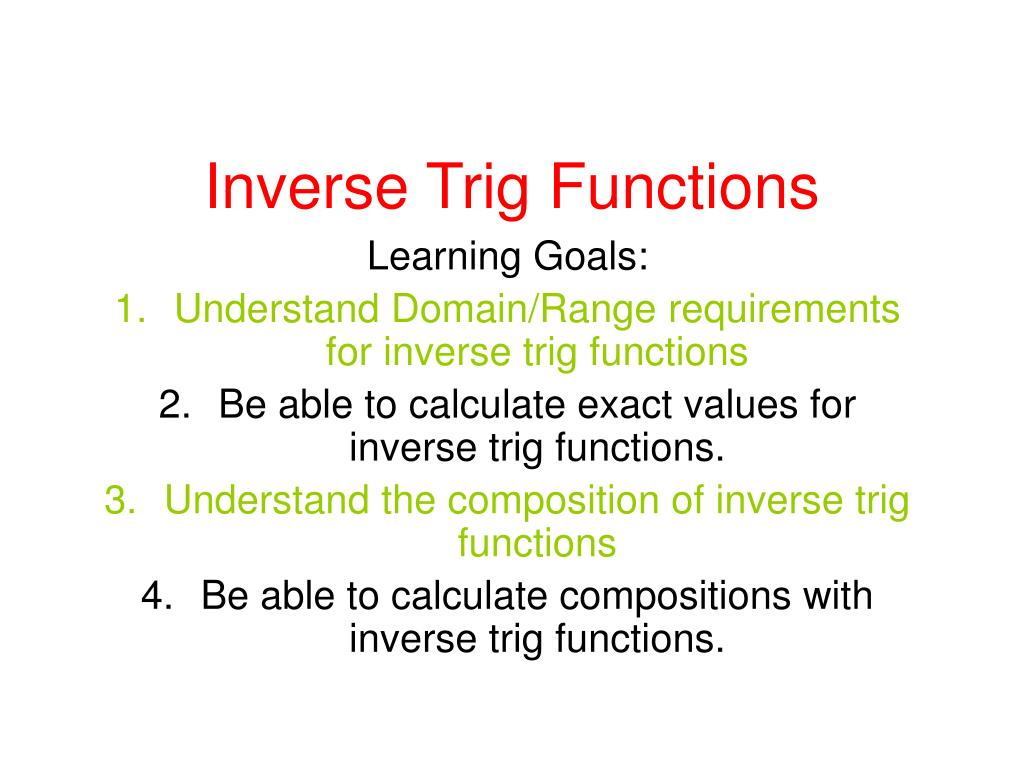 inverse trig functions l.