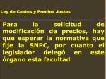 ley de costos y precios justos18