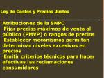 ley de costos y precios justos19