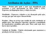 atributos de a es ppa57