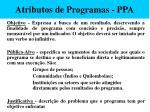 atributos de programas ppa51