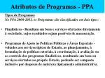 atributos de programas ppa52