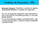 atributos de programas ppa53