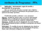 atributos de programas ppa54