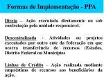formas de implementa o ppa