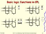 basic logic functions in cpl
