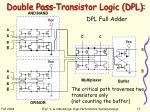 double pass transistor logic dpl17
