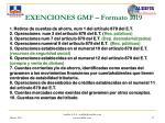 exenciones gmf formato 1019