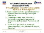 informacion exogena resoluci n 8660 1011
