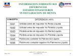 informacion formato 1025 diferencias estados financieros vs declaracion de renta