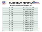 plazos para reportar agentes retenedores formato 100216