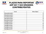 plazos para reportar art 631 y 623 grandes contribuyentes